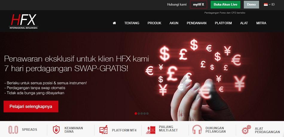 preview website PT. HFX internasional Berjangka