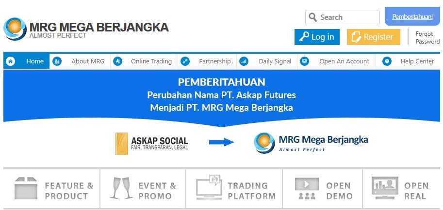Askap Futures Ganti Nama PT. MRG Mega Berjangka